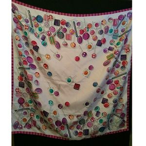 Authentic Large Gucci Lollipop Silk Scarf